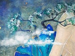 小青山水彩手绘