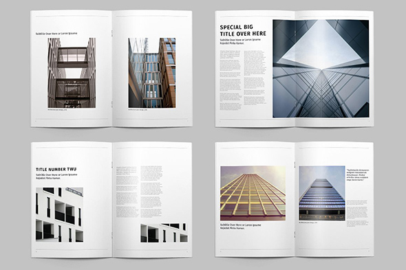 建筑学杂志画册模板|||吾爱排版 - 原创设计作品