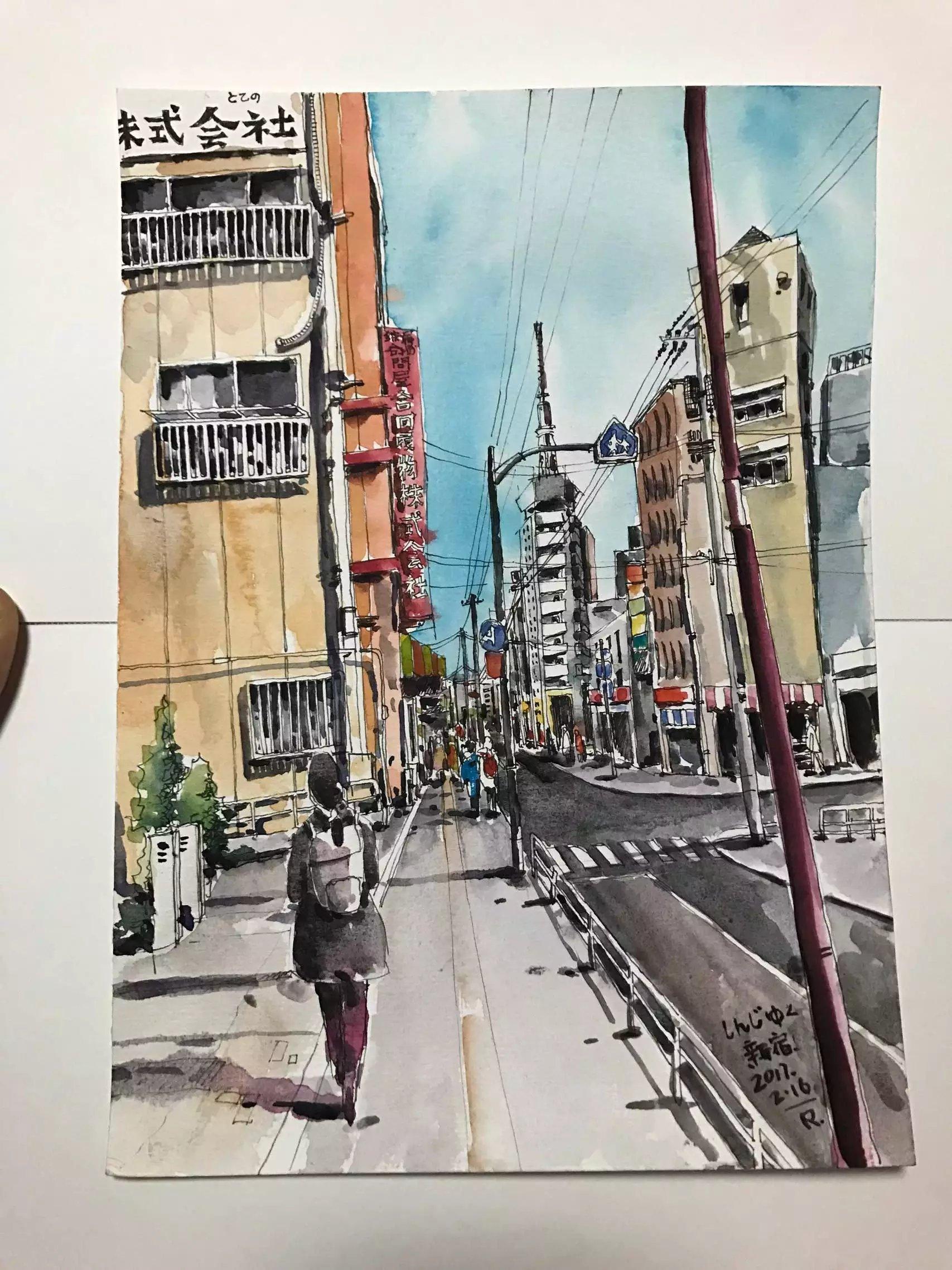 日本之行的手绘日记