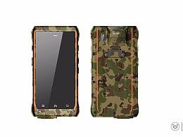 军工产品设计_迷彩色的军工三防手持机设计