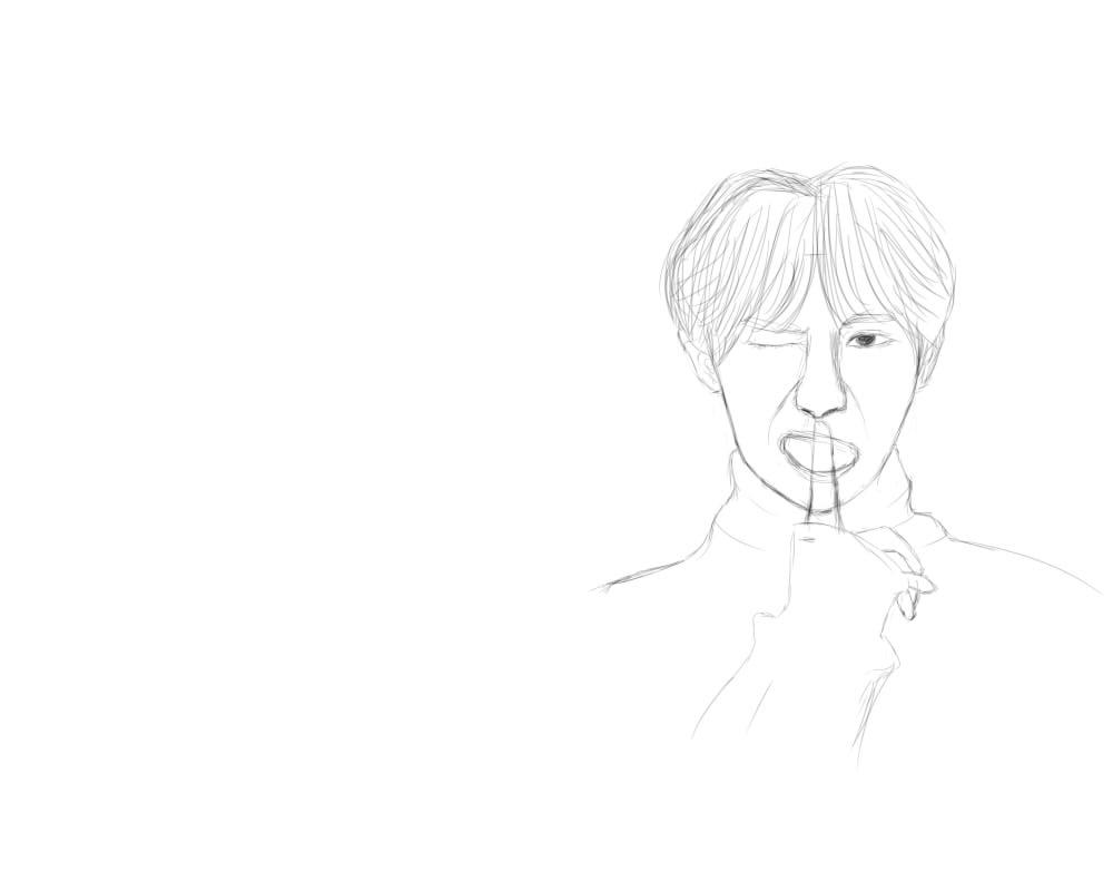 day90--手绘板人物手稿系列8-9|插画|插画习作|micky