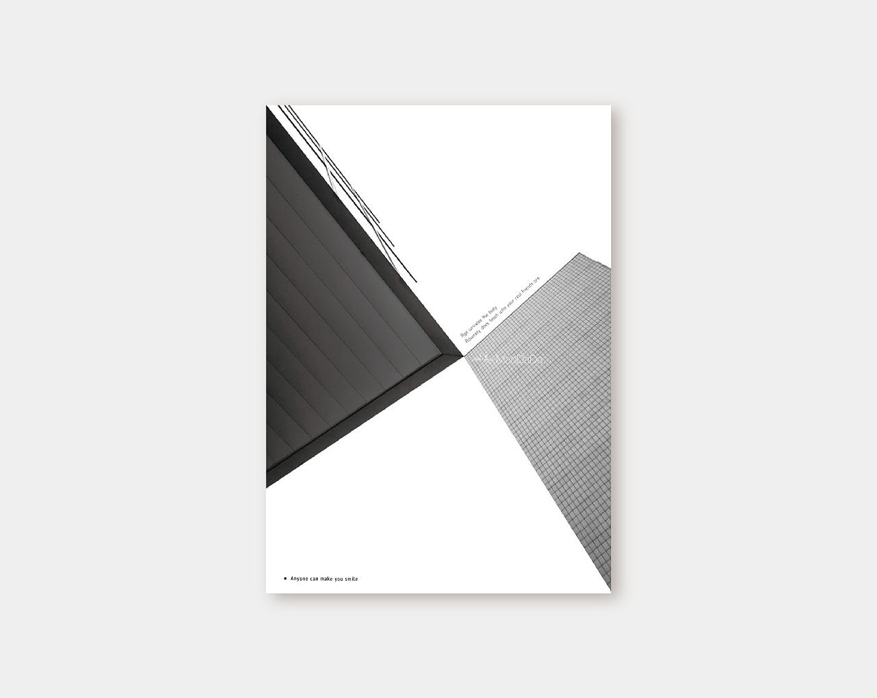 海报设计-黑白极简海报