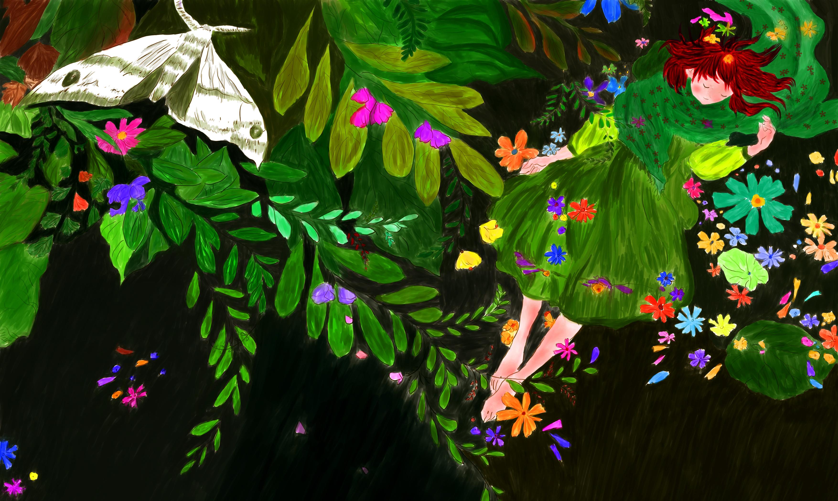 最近开始学习手绘板的水彩插画,嗯,这就算