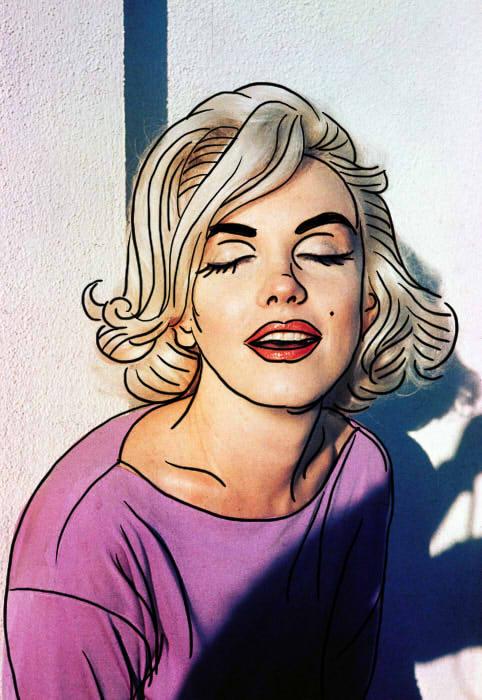 玛丽莲梦露卡通图案