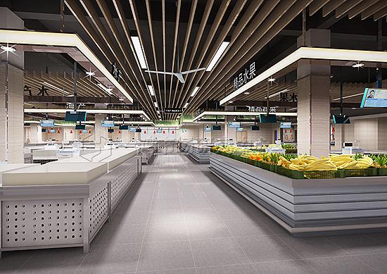 农贸市场设计,农贸市场摊位设计,农贸市场室内设计,农贸市场装修设计图片