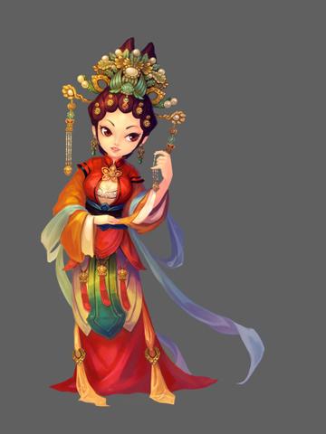 q版中国风人物设定|游戏原画|插画|liluojia56