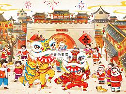 春节系列插画
