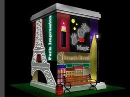 包柱装饰#商业美陈#法国巴黎印象元素#柱子美陈