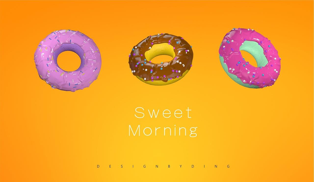 甜甜圈 c4d