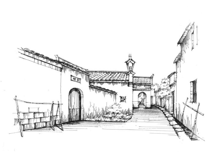 查看《宏村设计写生系列建筑步骤临摹图一行手绘北京校区》原图,原图