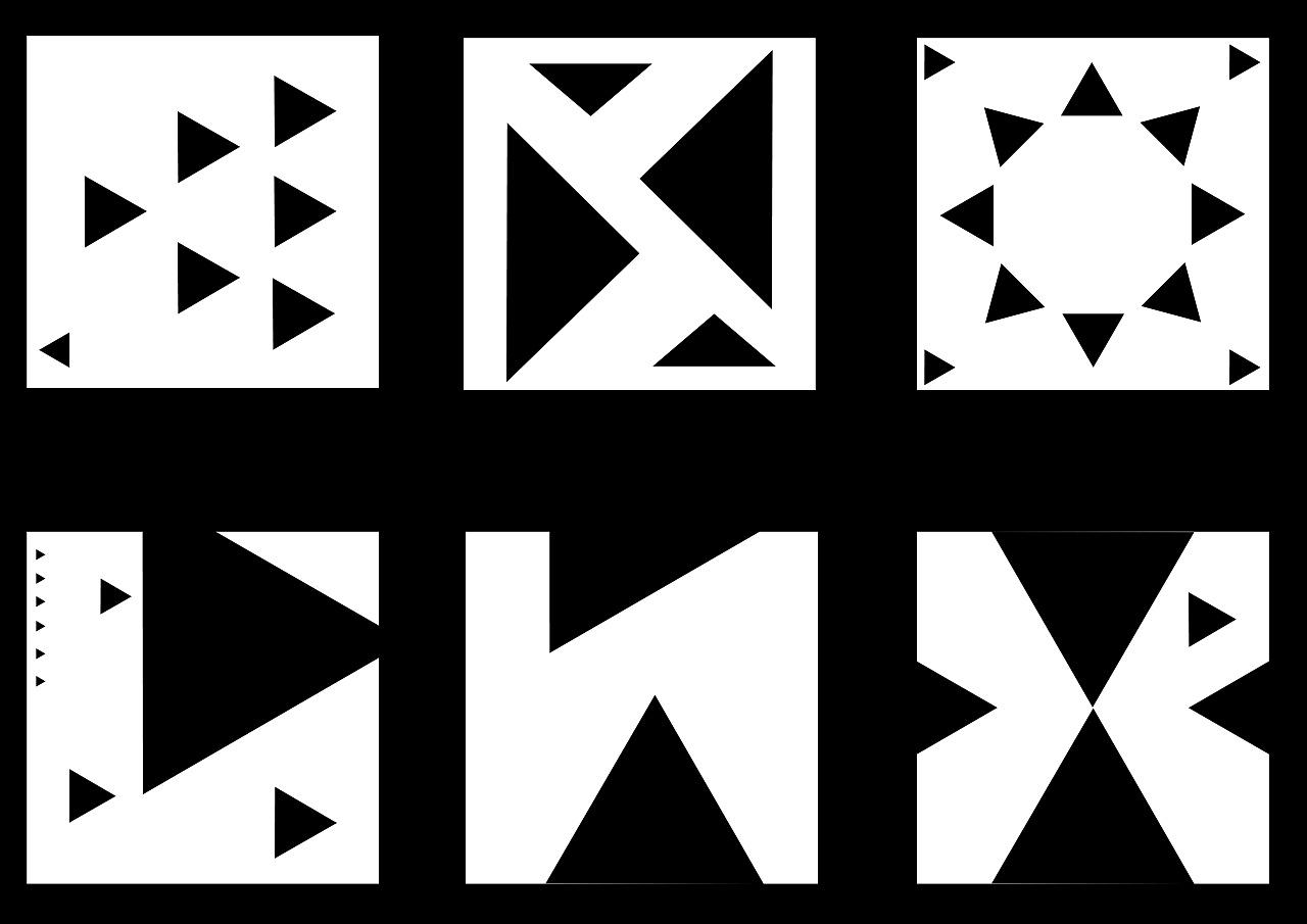 简单的三角形平面构图     图片