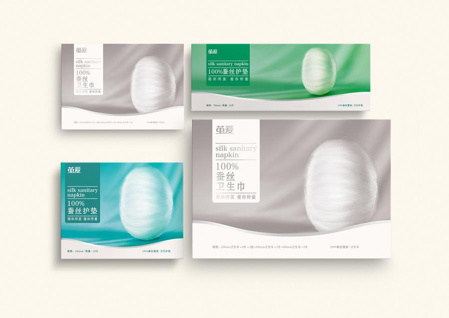 茧爱-品牌卫生巾包装设计|包装|岗位|排沙平面设ui相关蚕丝设计要求图片