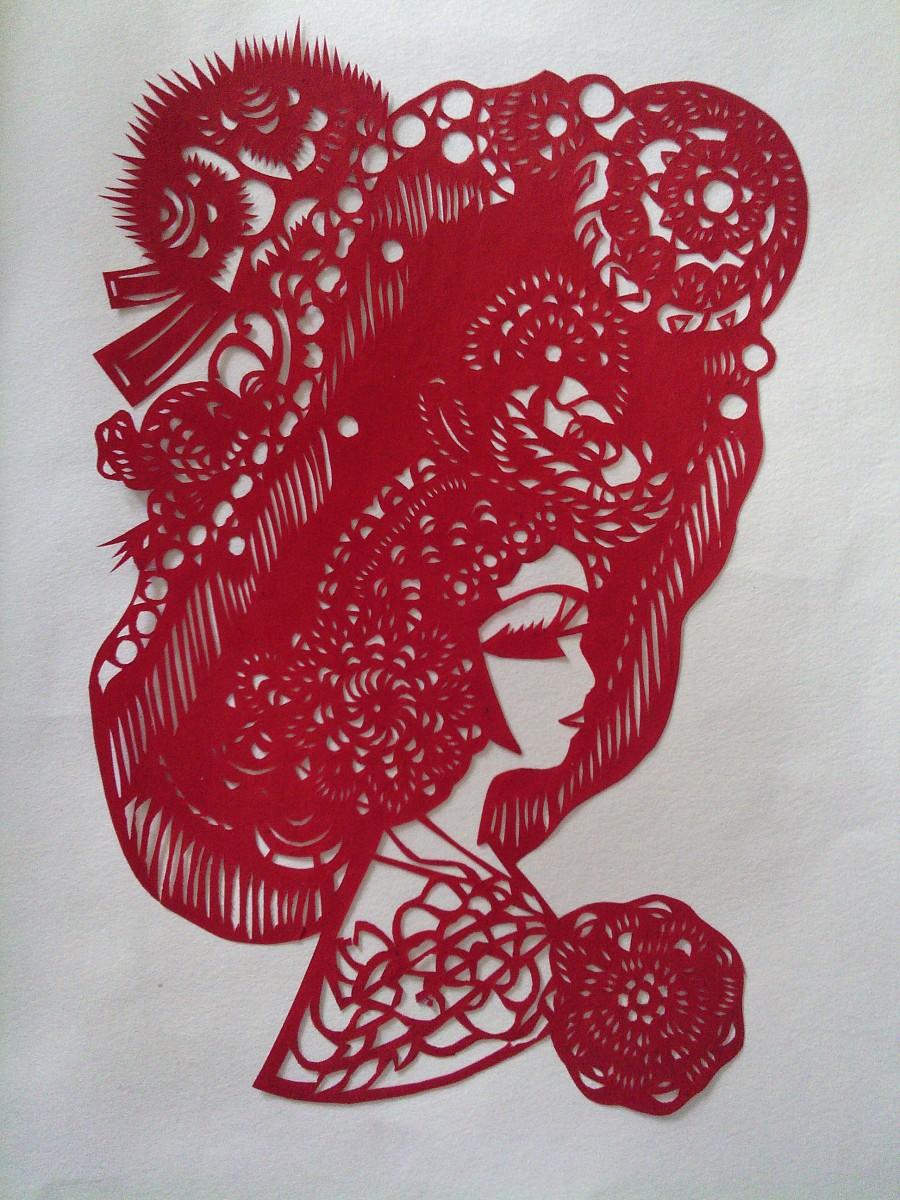 红-剪纸|其他手工|手工艺|负分清零 - 原创设计作品