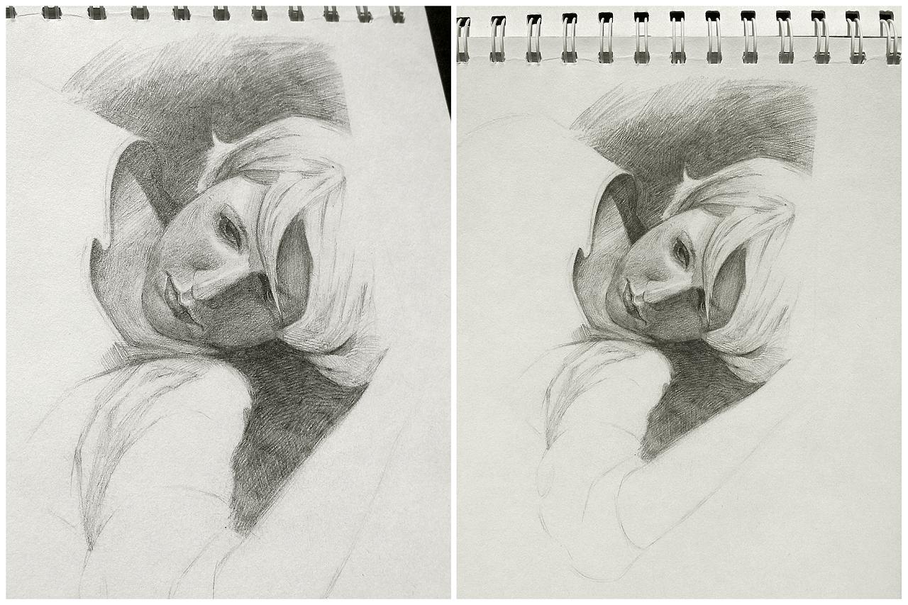 女人· 皮包 · 口红 | 插画 手绘 素描 写实