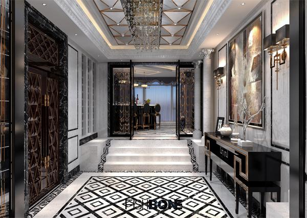 鱼骨设计-后现代风格别墅|室内设计|空间/建筑|鱼骨