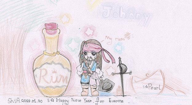 最爱的杰克船长彩铅手绘图图
