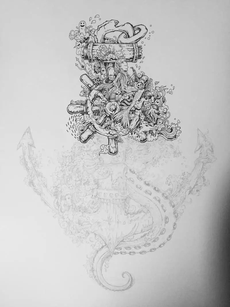 针管笔 黑白手绘 第十弹|绘画习作|插画|以津真天