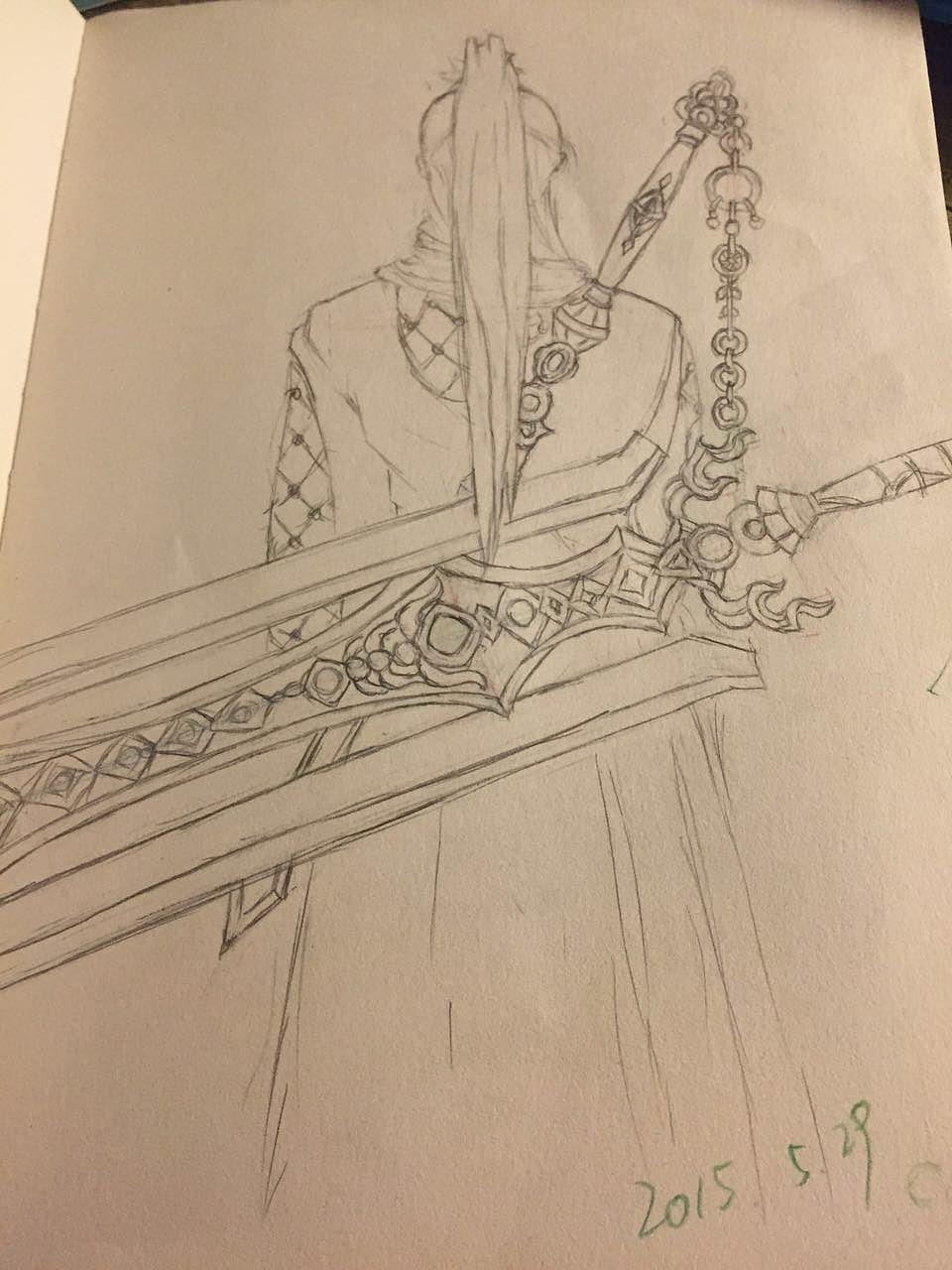 铅笔手绘剑网三武器|插画|涂鸦/潮流|yaya137 - 原创