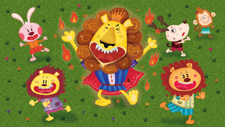 狮子烫头发绘本图片