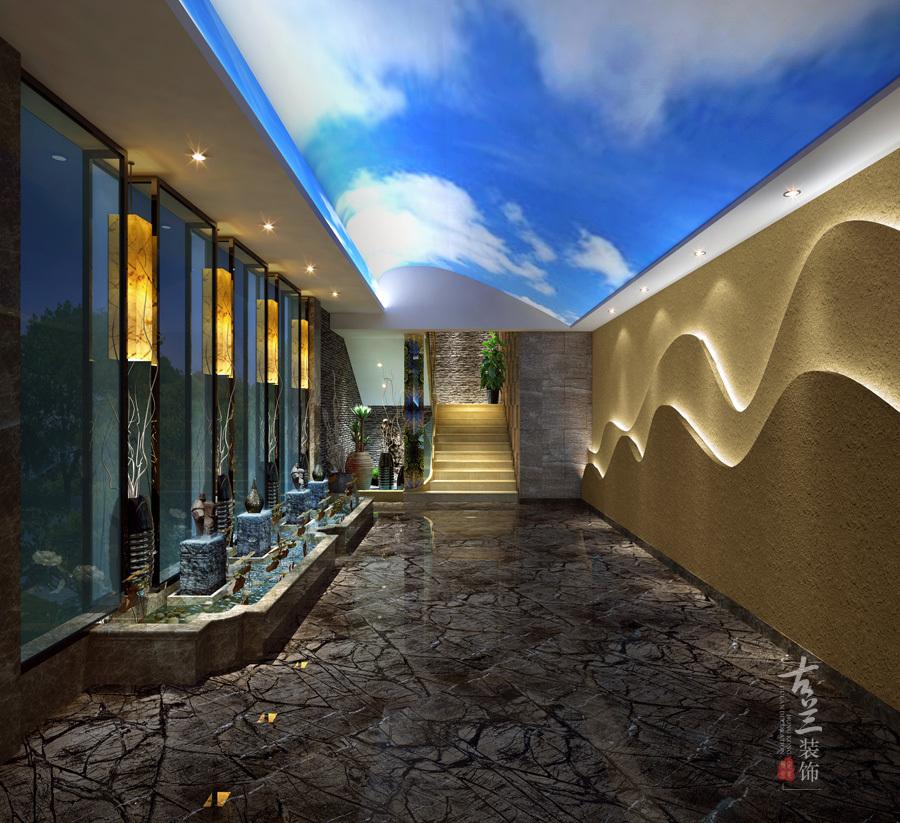 德阳专业设计|德阳特色茶楼茶楼设计-澄乡幼儿园设计师图片