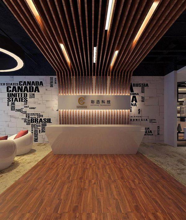 新材料案例办公室装修设计科技效果图|室美术学室内设计图片