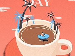 A New Day-插画粉笔机理制作经验分享