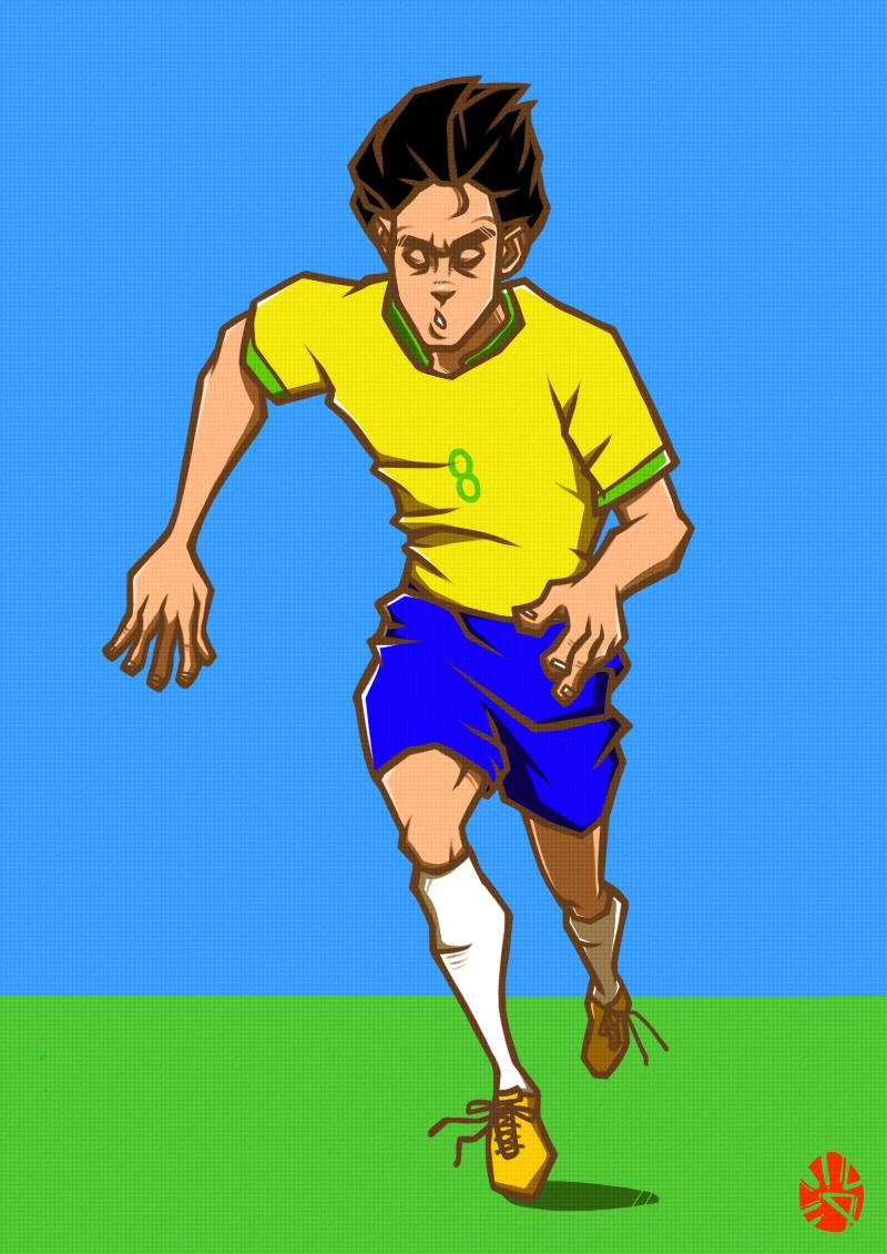 看罗休女人_我喜欢的几个巴西球员|动漫|单幅漫画|罗休特 - 原创