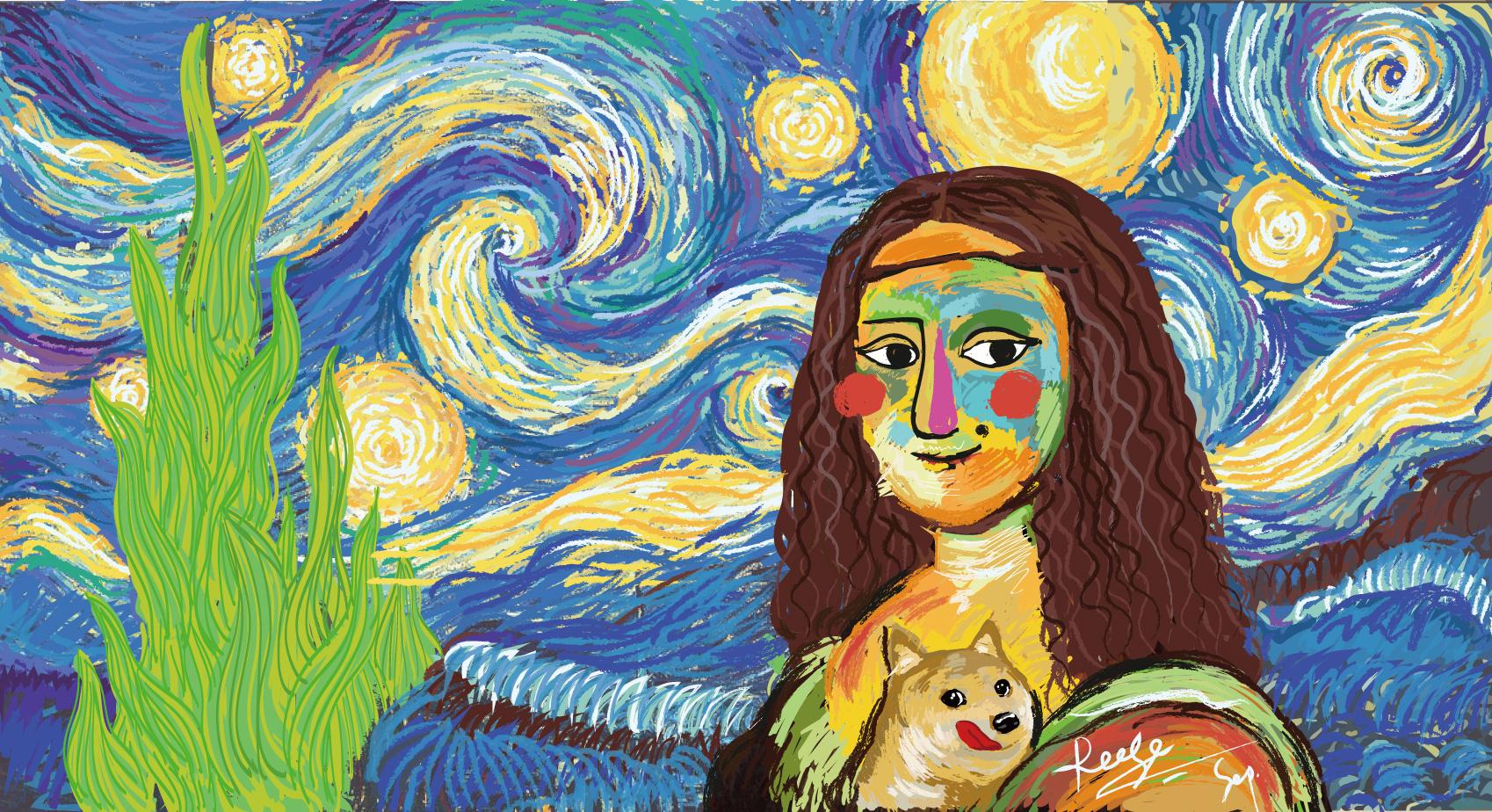 爱的蒙娜丽莎与梵高的星空