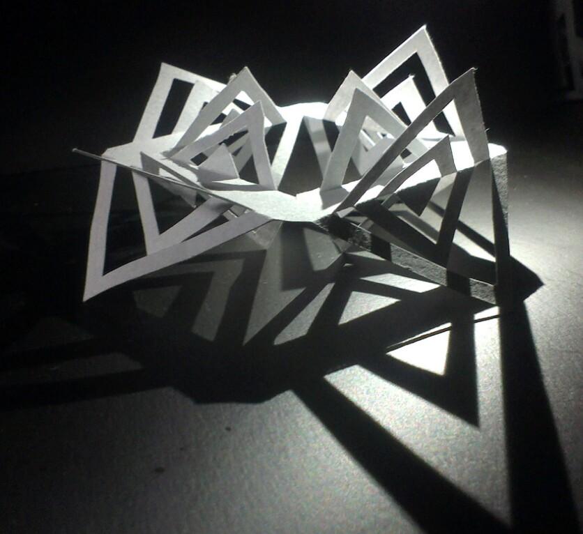 立体构成--剪纸图片