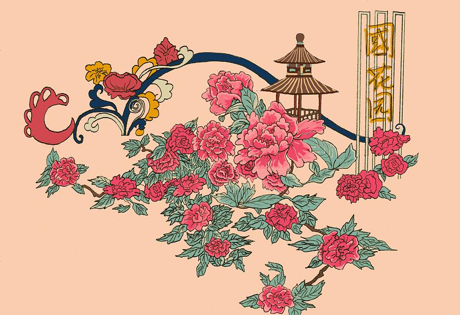 洛阳手绘明信片 商业插画 插画 杰拉杜sl