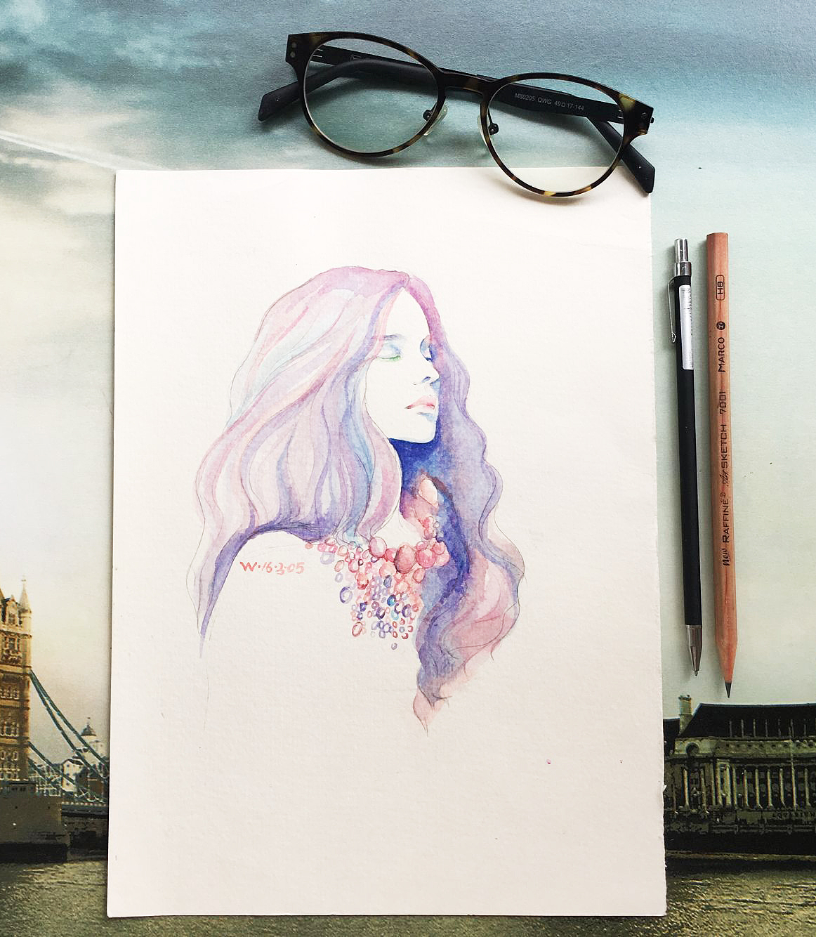 水彩人物画