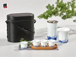 哲品  山海行· 雨拓 羽白 旅行茶具套装