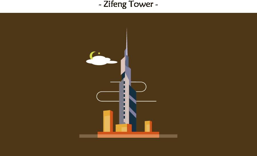 南京地标建筑风格化设计