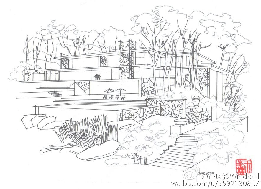 别墅 建筑设计 空间 汪风铃windbell - 原创设计作品图片