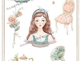 《爱丽丝茶会》纸胶带贴纸
