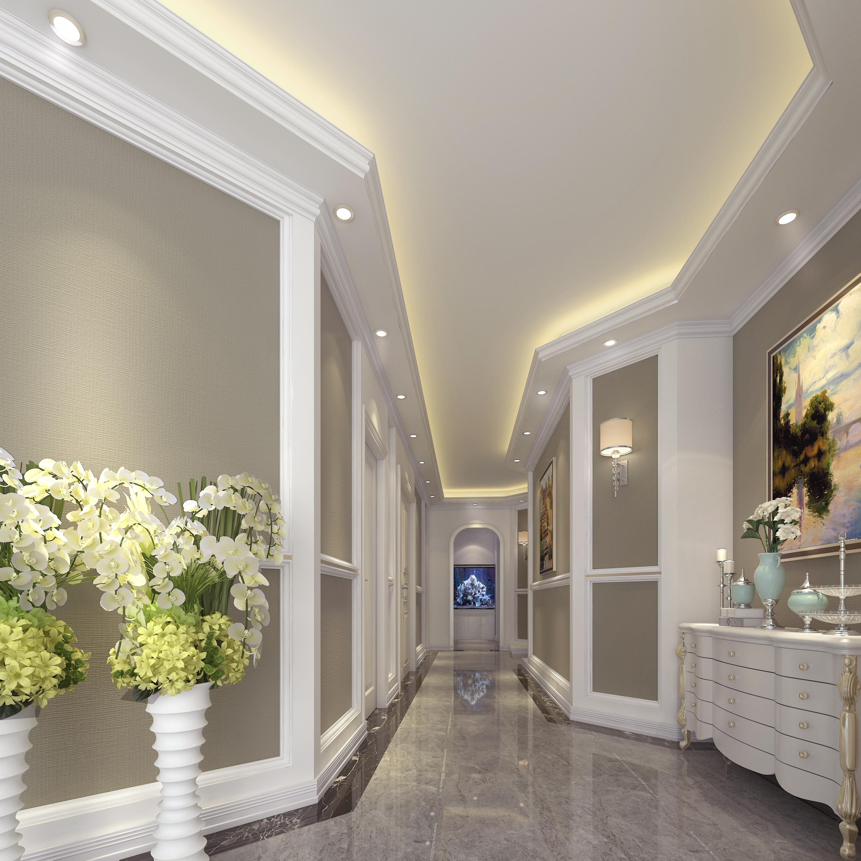湖北襄陽spa美容會所裝修設計大廳走廊裝修效果圖圖片