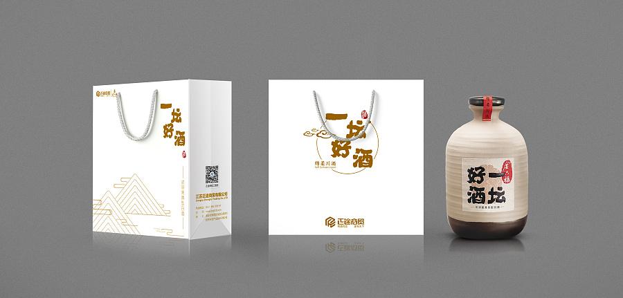 一坛好酒手提袋 包装 平面 winonal - 原创设计作品图片