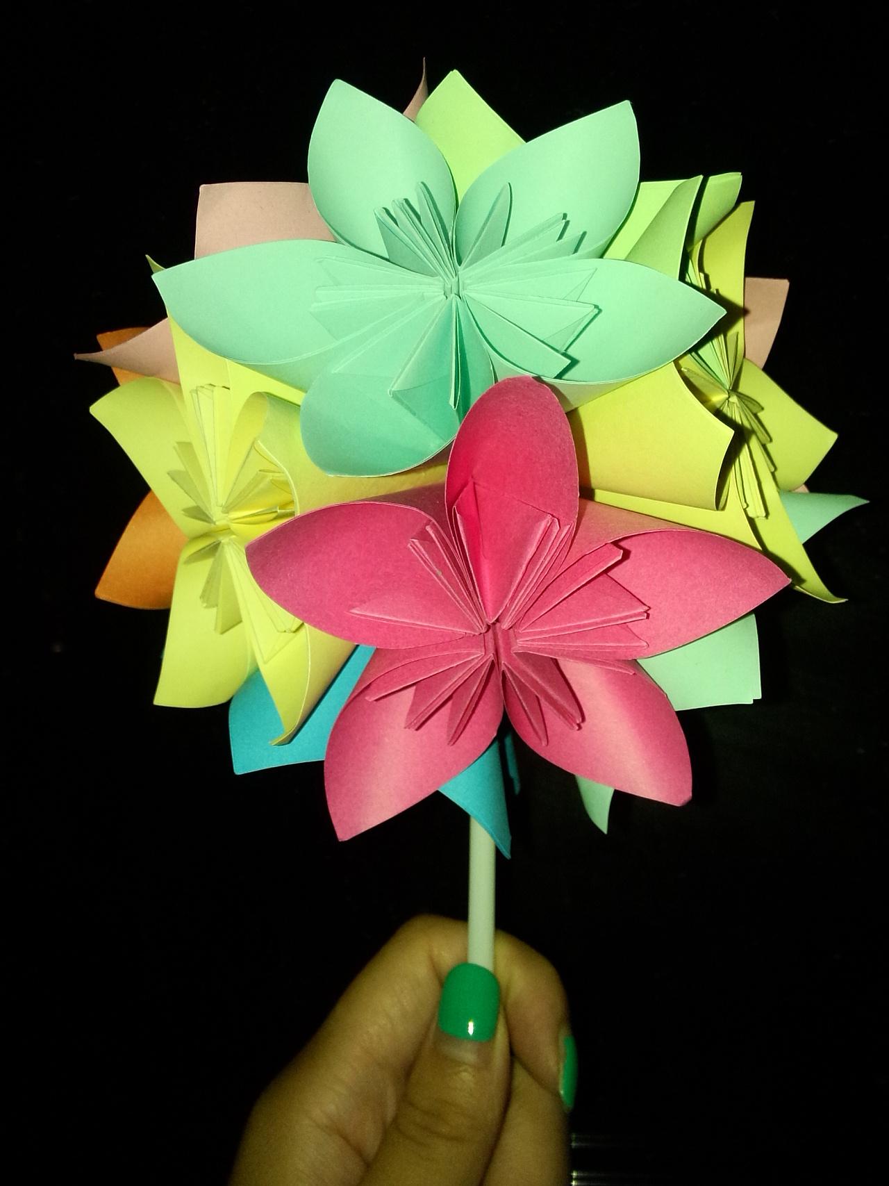 各种花折纸大全图解法图片
