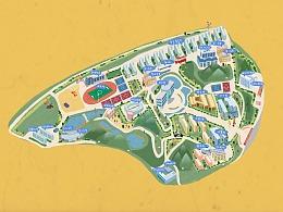 湖南手绘校园地图