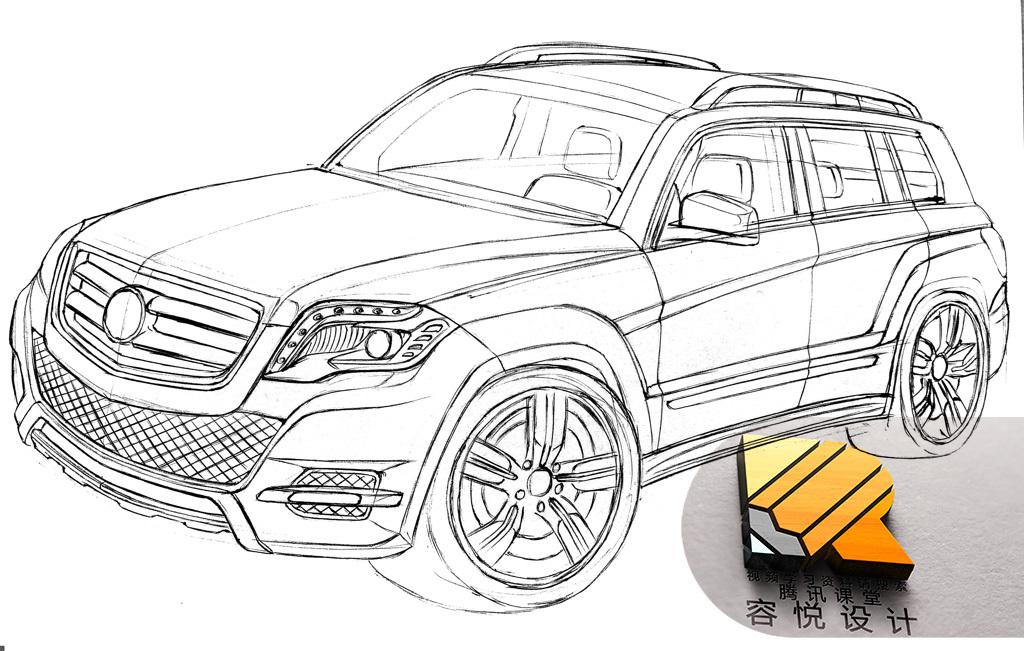 汽车设计线稿工业设计手绘产品设计工业设计考研手绘