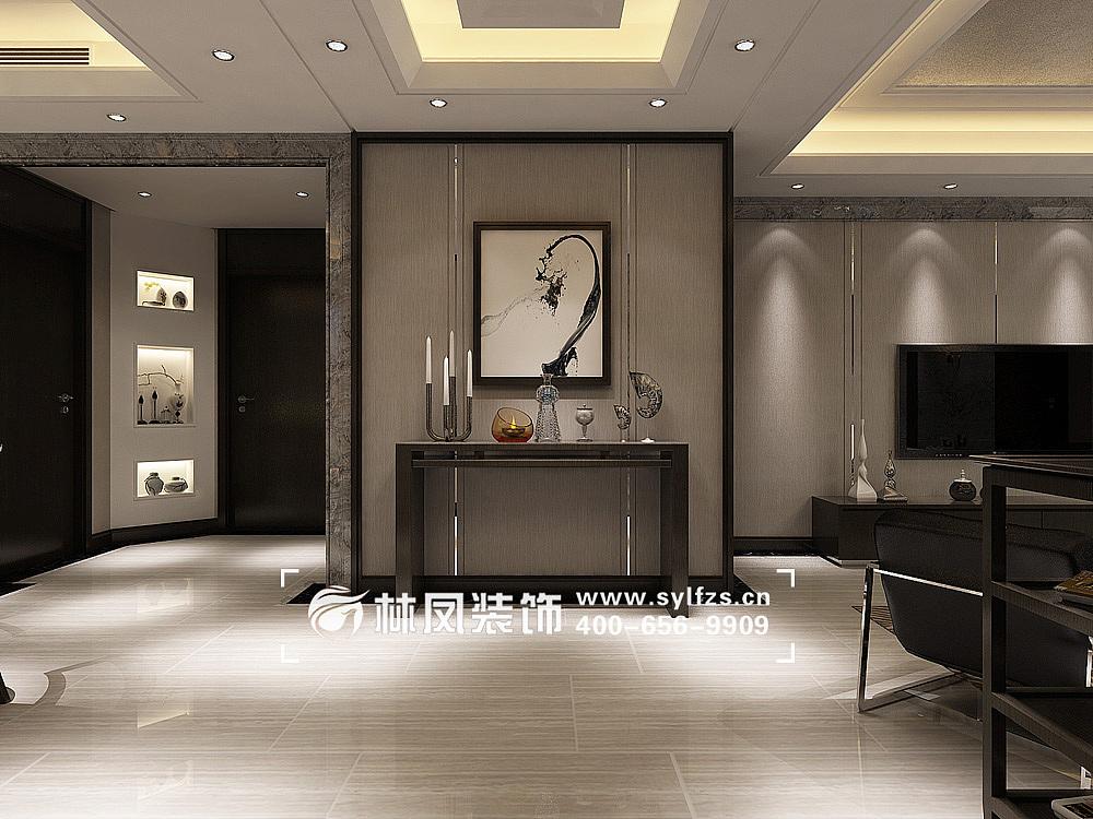 世贸五里河港式风格213㎡装修效果图|空间|室内设计图片