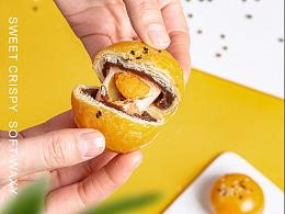 蛋黄酥 食品美食拍摄