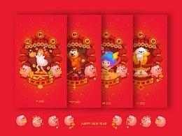 MOJIFAMILY新年插画系列