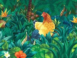 吉喜椰鸡——原生椰子鸡  (两个椰子一只鸡)
