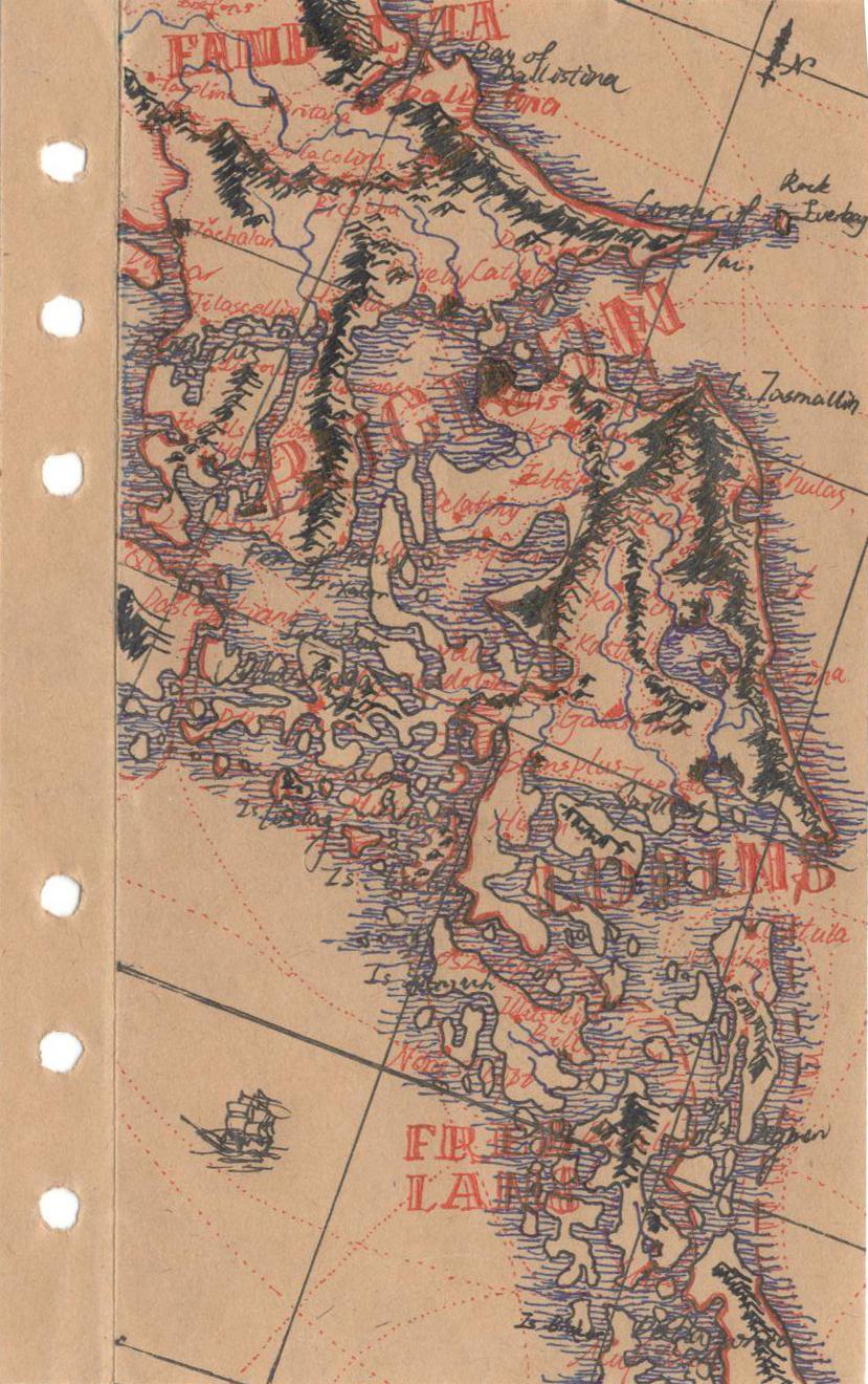 【架空地图系列】01千屿之地图片