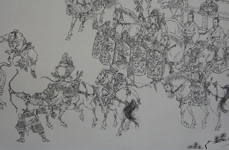 手绘黑白松 壁纸