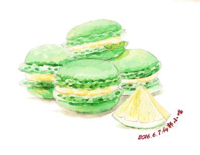 手绘水彩甜蜜下午茶 商业插画 插画 郭小喵miao