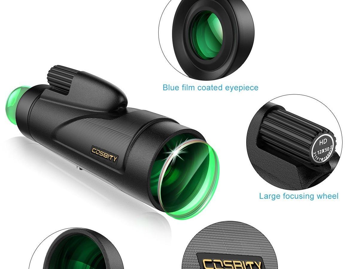 单筒望远镜3d建模渲染详情页设计图片