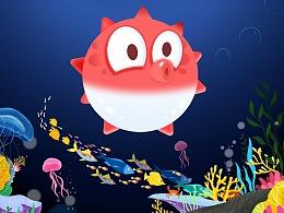 深海里的胖胖鱼
