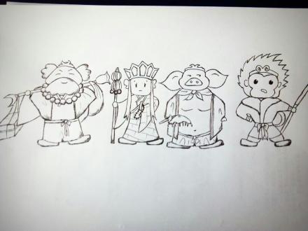 西游记人物卡通简笔画